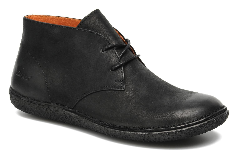 Chaussures à lacets Kickers HOBBOBO Noir vue détail/paire