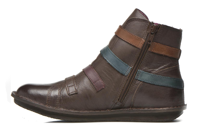 Bottines et boots Kickers WAXING Marron vue face