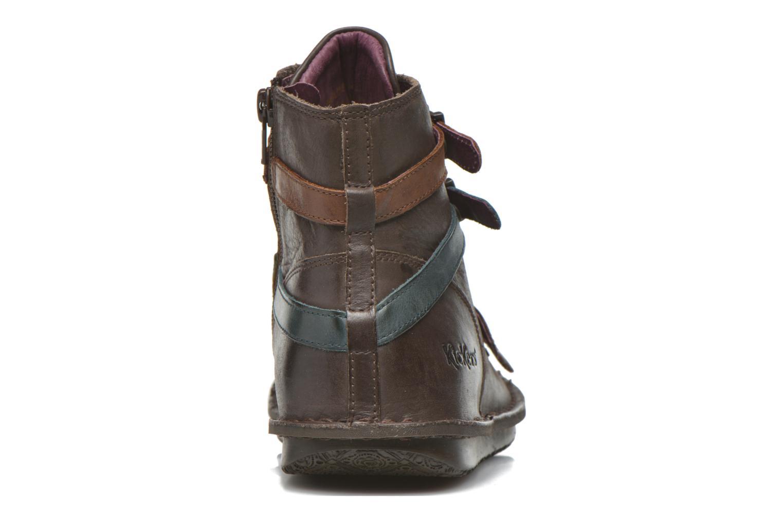 Bottines et boots Kickers WAXING Marron vue droite
