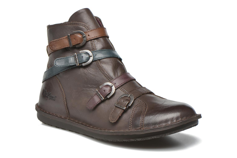 Bottines et boots Kickers WAXING Marron vue détail/paire