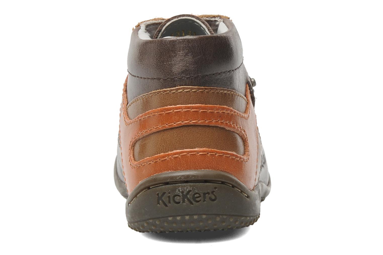 Bottines et boots Kickers GUILLEM Marron vue droite