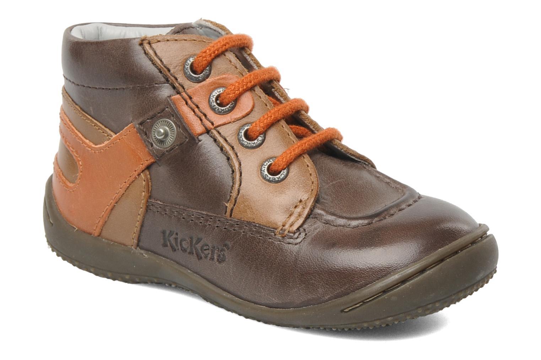 Bottines et boots Kickers GUILLEM Marron vue détail/paire