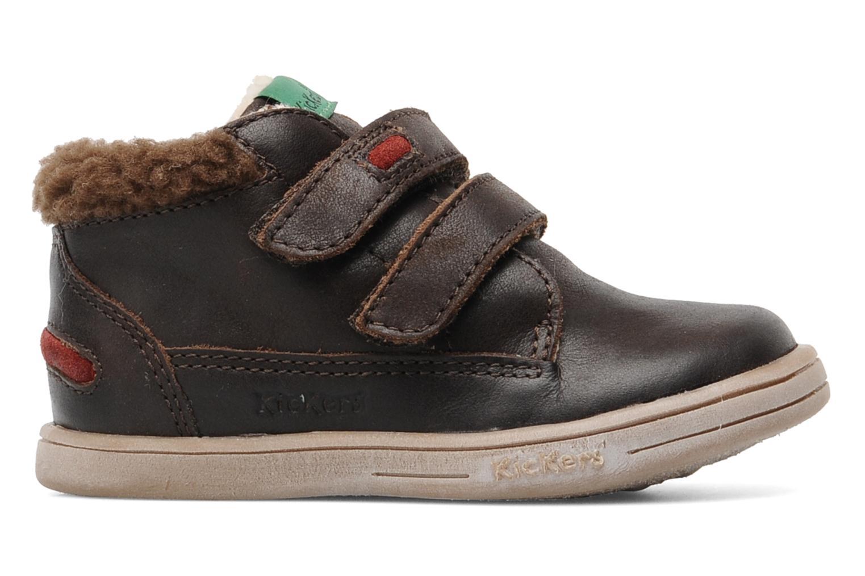 Chaussures à scratch Kickers TALKER Marron vue derrière