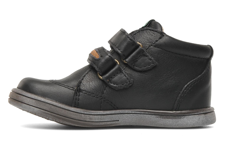 Zapatos con velcro Kickers Taxi Negro vista de frente