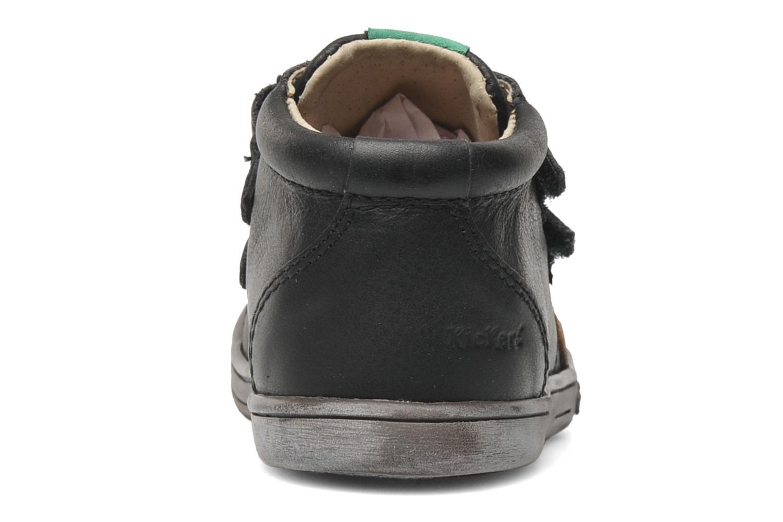 Zapatos con velcro Kickers Taxi Negro vista lateral derecha