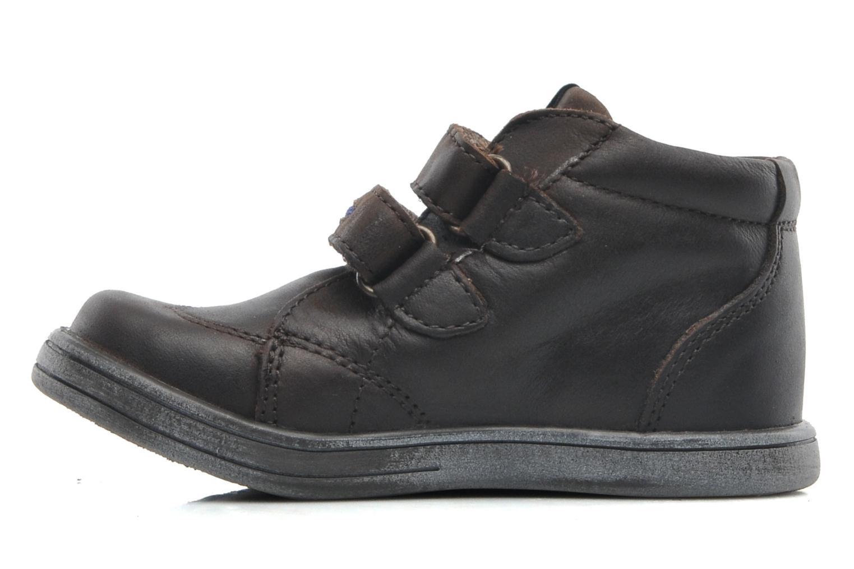 Zapatos con velcro Kickers Taxi Marrón vista de frente