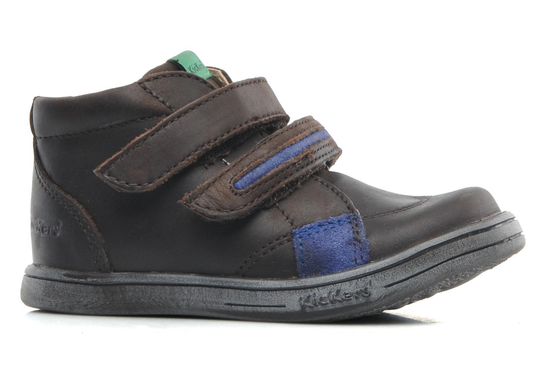 Zapatos con velcro Kickers Taxi Marrón vistra trasera