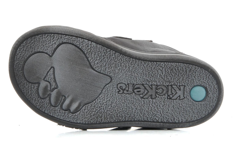 Zapatos con velcro Kickers Taxi Marrón vista de arriba