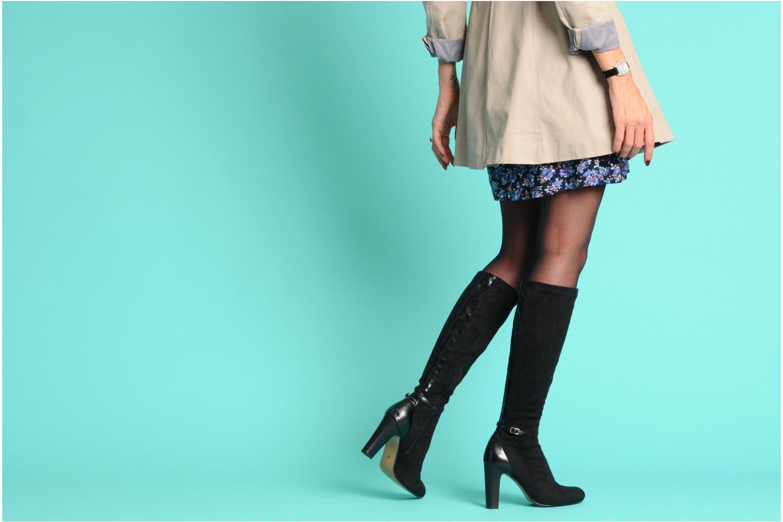 Stiefel Georgia Rose Linsey stretch schwarz ansicht von unten / tasche getragen