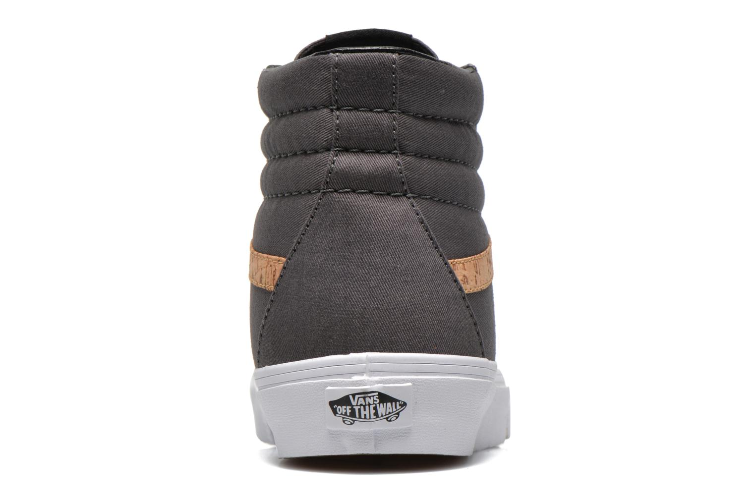 Trainers Vans Sk8-Hi Reissue Grey view from the right