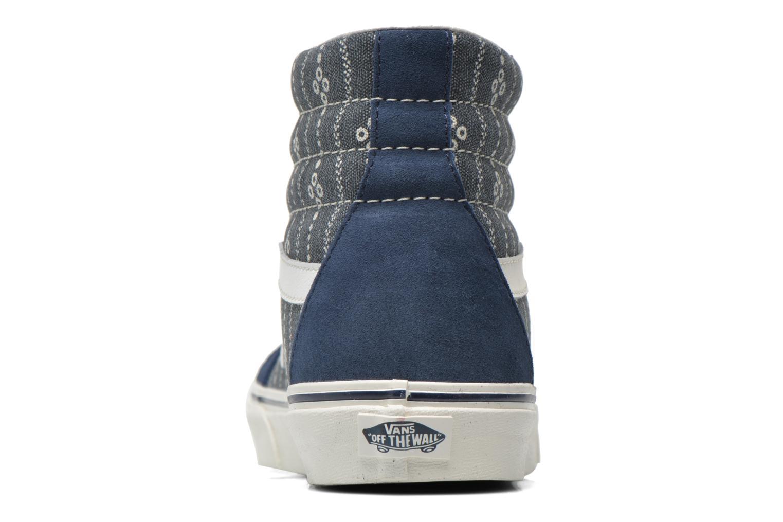 Sneakers Vans Sk8-Hi Reissue Blauw rechts