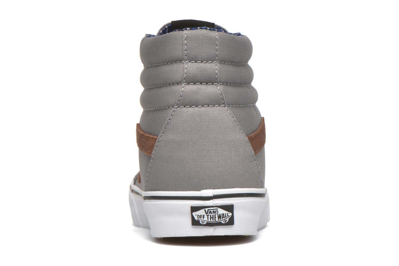 Baskets Vans Sk8-Hi Reissue Gris vue droite