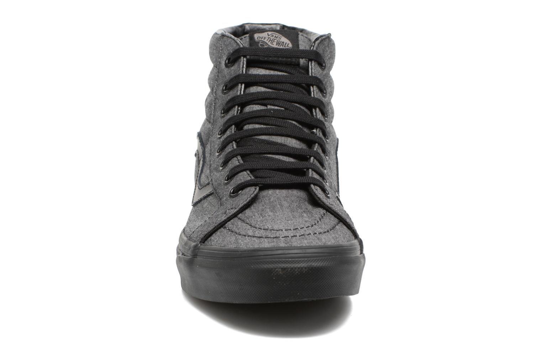 Sneaker Vans Sk8-Hi Reissue schwarz schuhe getragen