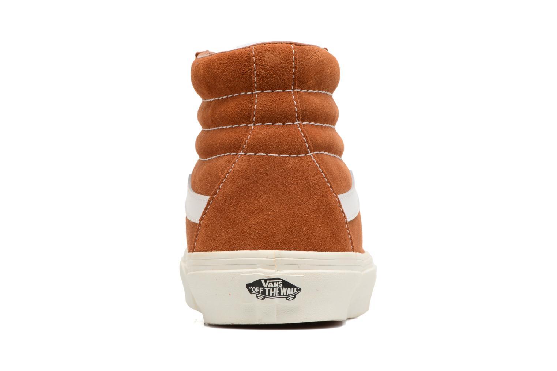Sneakers Vans Sk8-Hi Reissue Marrone immagine destra