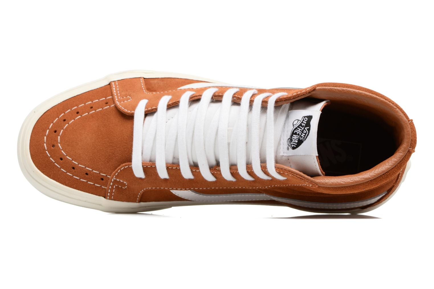 Trainers Vans Sk8-Hi Reissue Brown view from the left