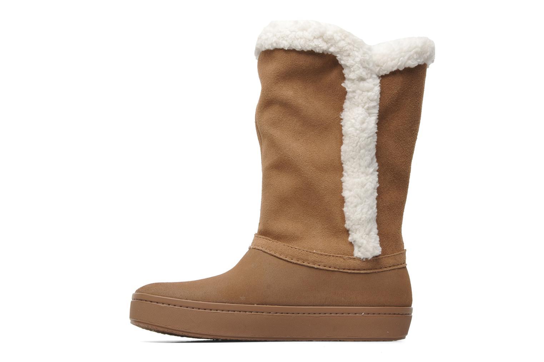 Stiefeletten & Boots Crocs Modessa Suede Button Boot braun ansicht von vorne