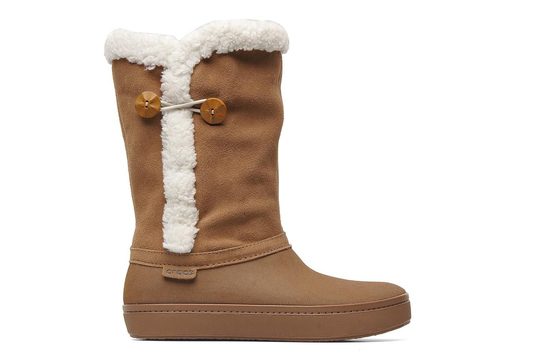 Stiefeletten & Boots Crocs Modessa Suede Button Boot braun ansicht von hinten