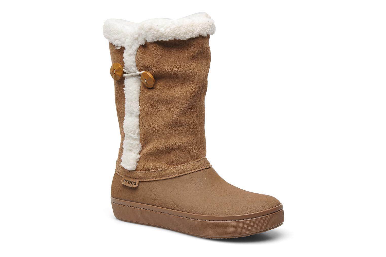 Bottines et boots Crocs Modessa Suede Button Boot Marron vue détail/paire