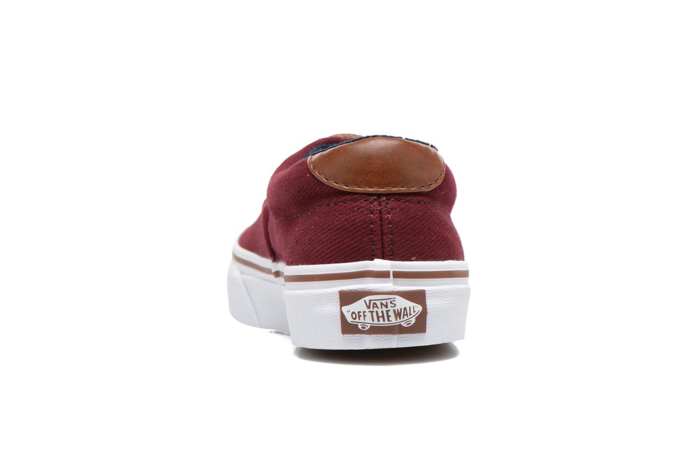 Sneakers Vans Era 59 e Bordeaux rechts