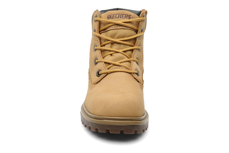 Stiefeletten & Boots Skechers Mecca Lumberjack gelb schuhe getragen