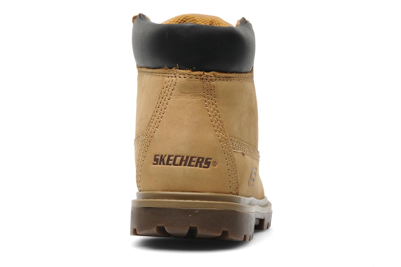 Stiefeletten & Boots Skechers Mecca Lumberjack gelb ansicht von rechts