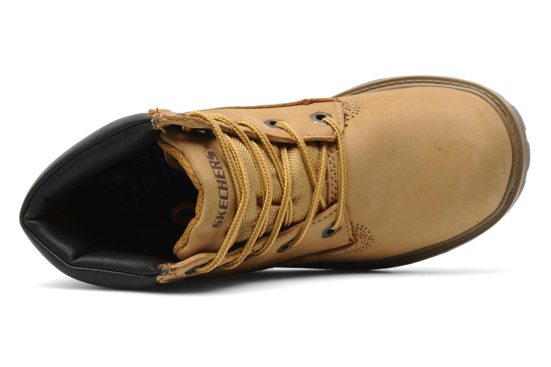 Stiefeletten & Boots Skechers Mecca Lumberjack gelb ansicht von links
