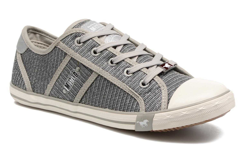 Baskets Mustang shoes Pitaya Argent vue détail/paire