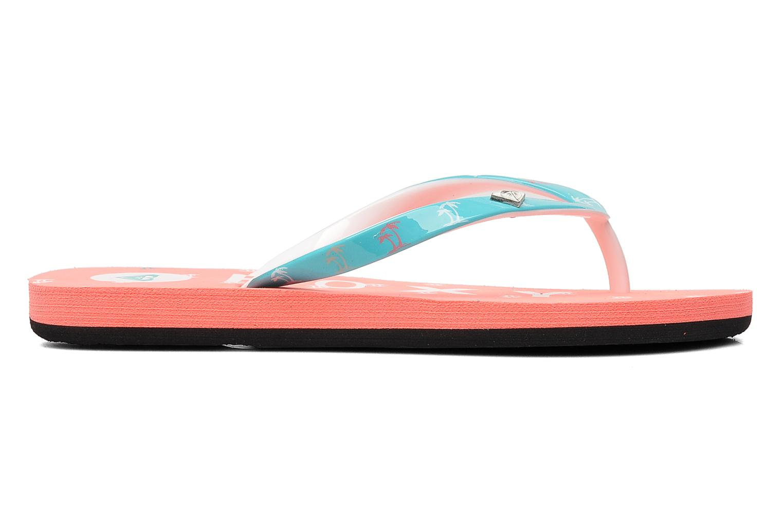 Flip flops Roxy RG PEBBLE V K Pink back view