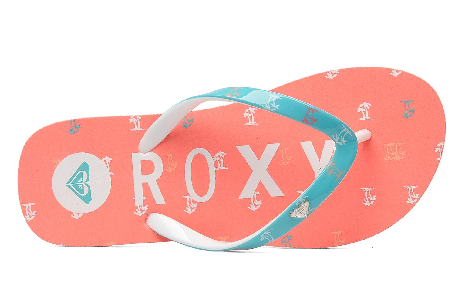 Flip flops Roxy RG PEBBLE V K Pink view from the left