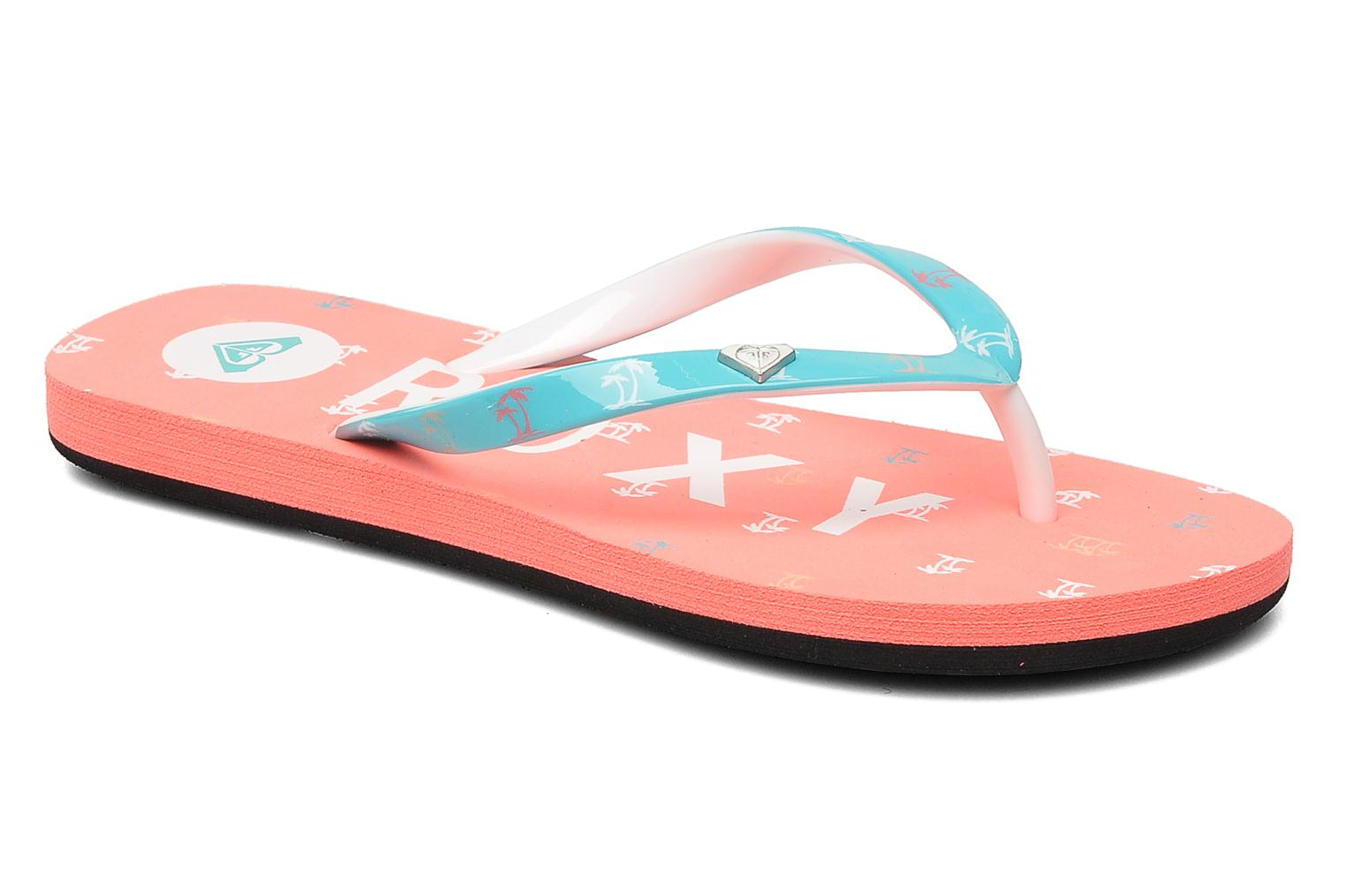 Flip flops Roxy RG PEBBLE V K Pink detailed view/ Pair view