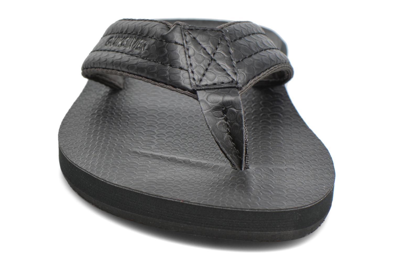 Flip flops & klipklapper Quiksilver Carver Nubuck Sort se skoene på