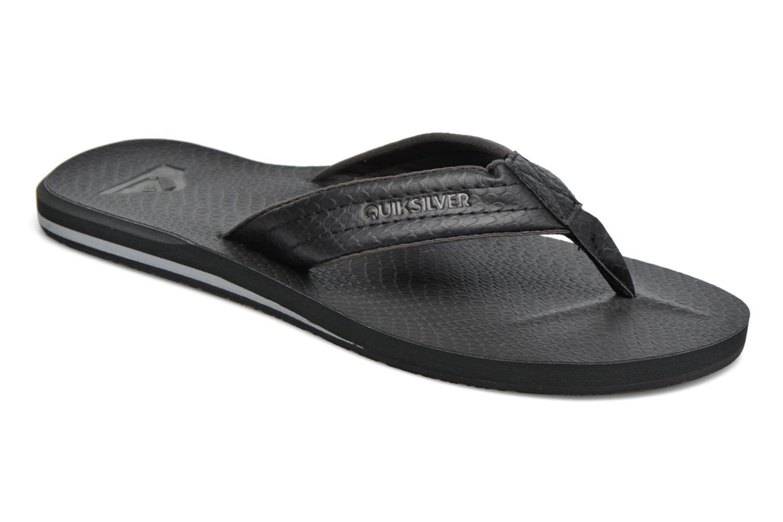 Flip flops & klipklapper Quiksilver Carver Nubuck Sort detaljeret billede af skoene