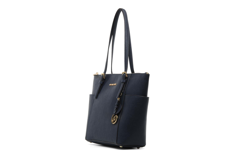 Handtaschen Michael Michael Kors JET SET EW TZ Tote blau schuhe getragen
