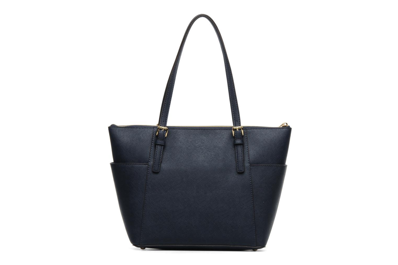 Handbags Michael Michael Kors JET SET EW TZ Tote Blue front view