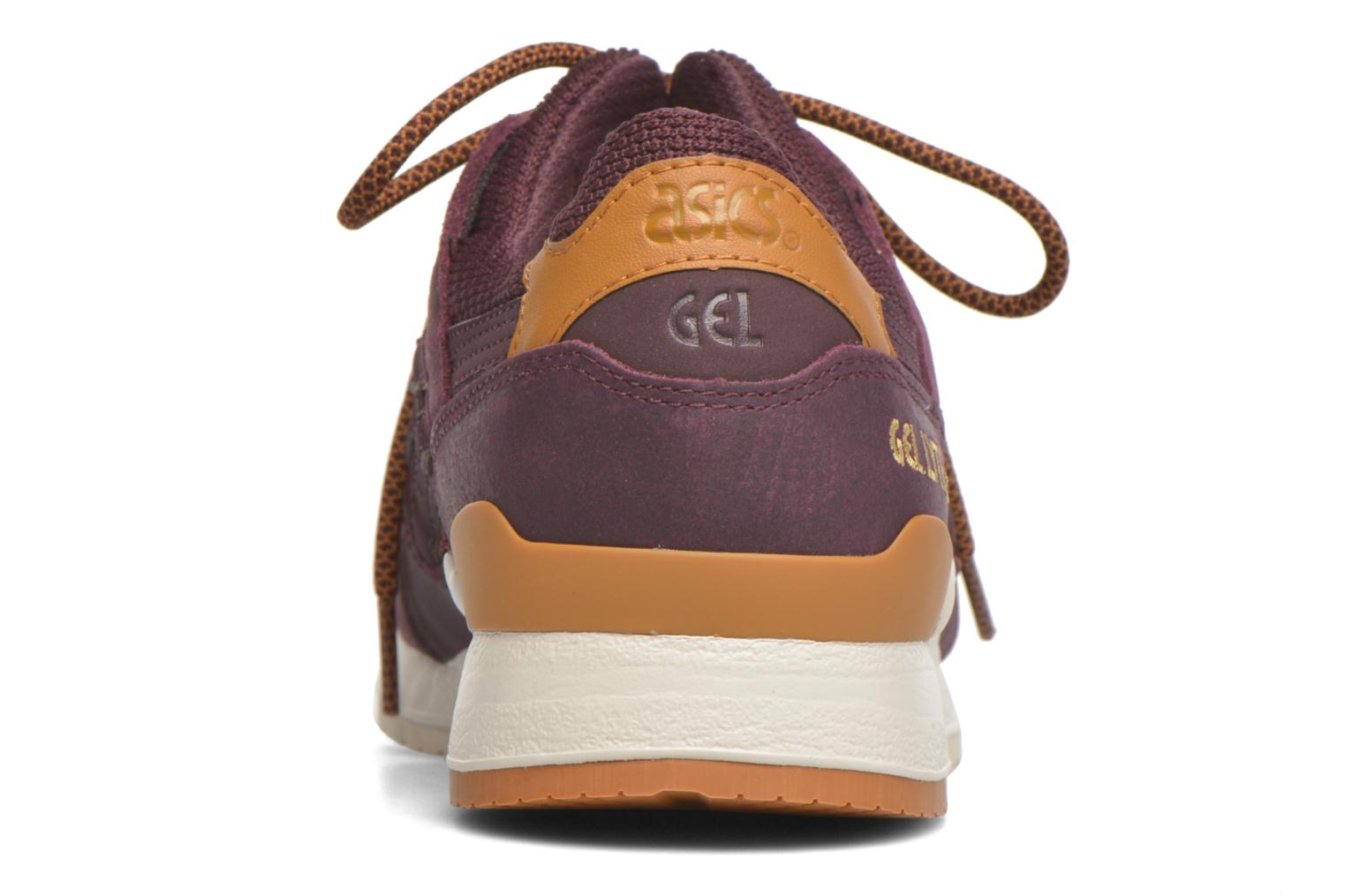 Trainers Asics Gel-lyte III Burgundy view from the right