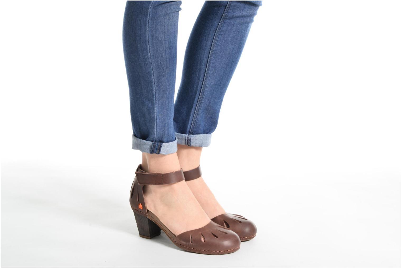 Sandales et nu-pieds Art I Meet 144 Noir vue bas / vue portée sac