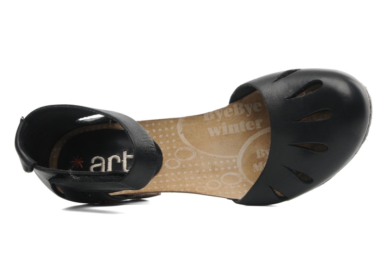 Sandalias Art I Meet 144 Negro vista lateral izquierda
