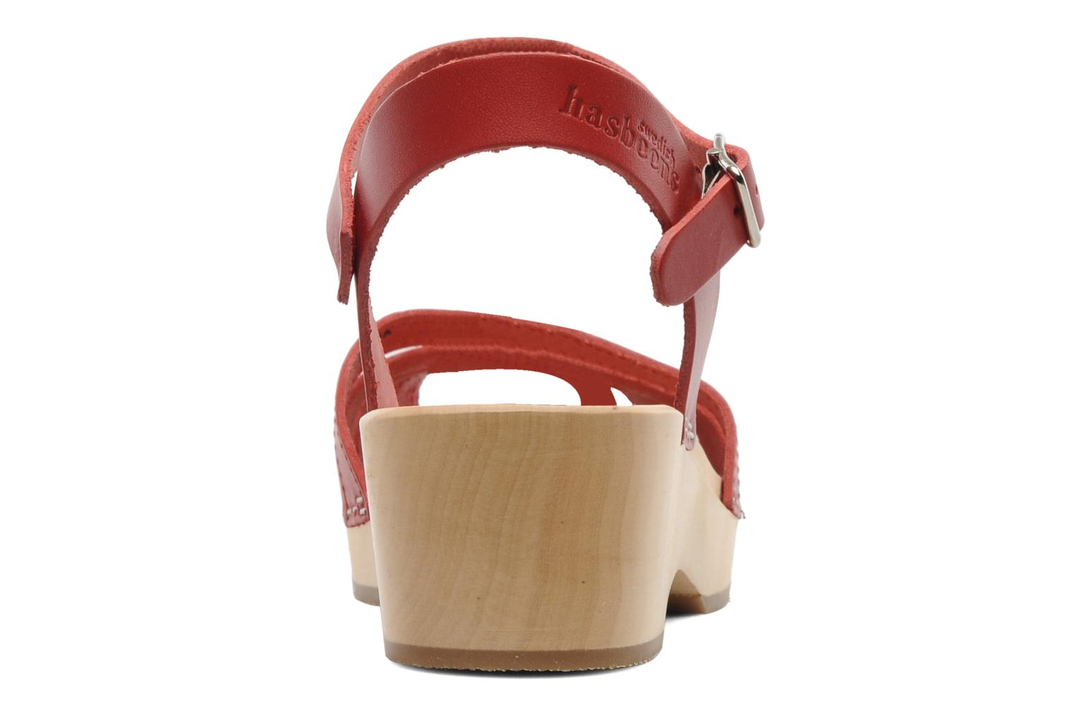 Sandals Swedish Hasbeens Cross Strap Debutant Red view from the right