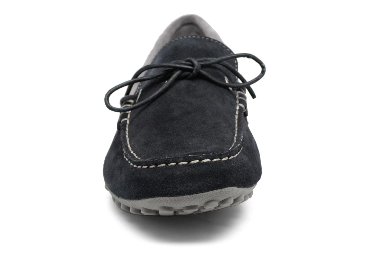Mocassins Geox U SNAKE MOC I U4207I Bleu vue portées chaussures