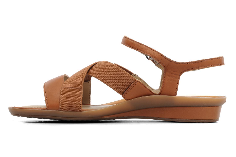Sandales et nu-pieds Geox D Emelyne B Marron vue face