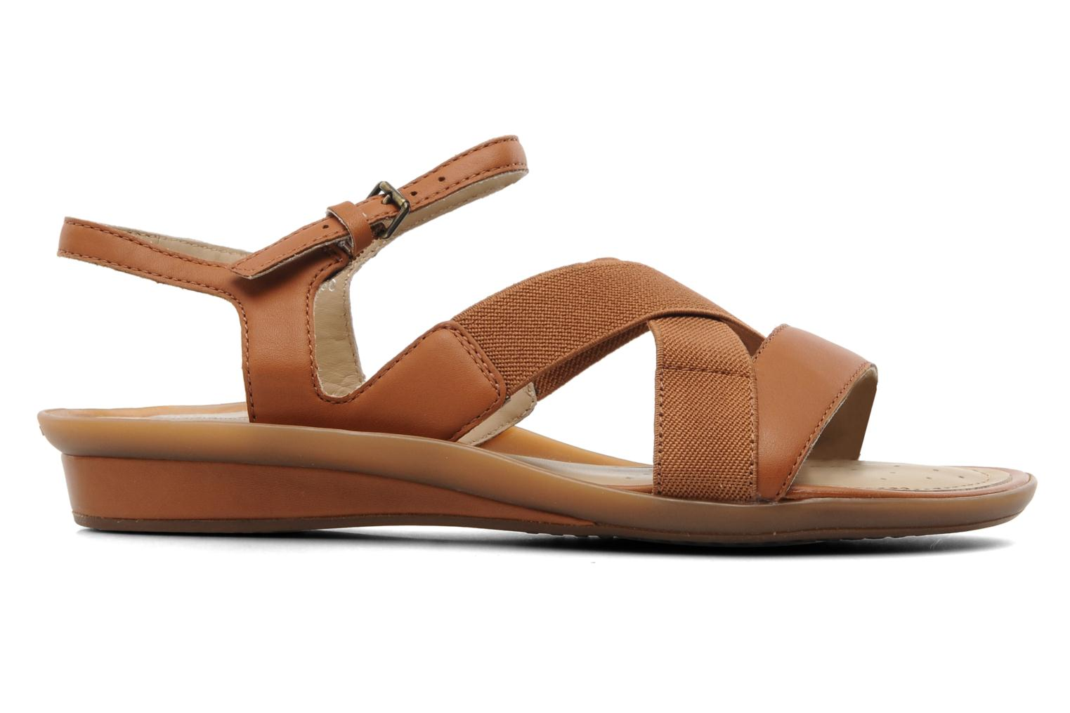 Sandals Geox D Emelyne B Brown back view