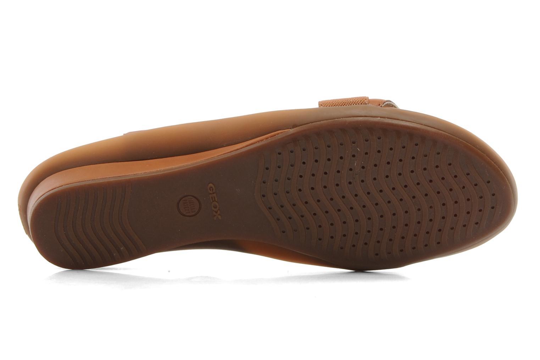 Sandales et nu-pieds Geox D Emelyne B Marron vue haut