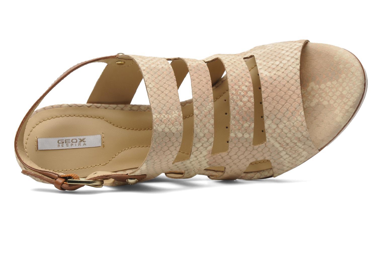 Sandales et nu-pieds Geox D Sibilla S. B Beige vue gauche
