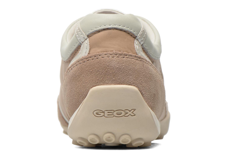 Sneakers Geox D SNAKE X D3212X Beige rechts