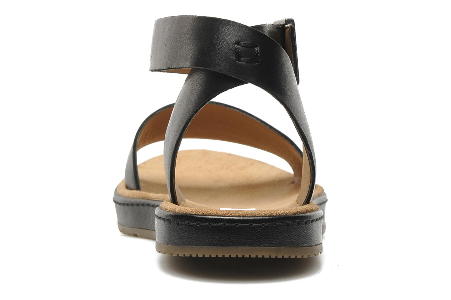 Sandals Clarks Romantic Moon Black view from the right