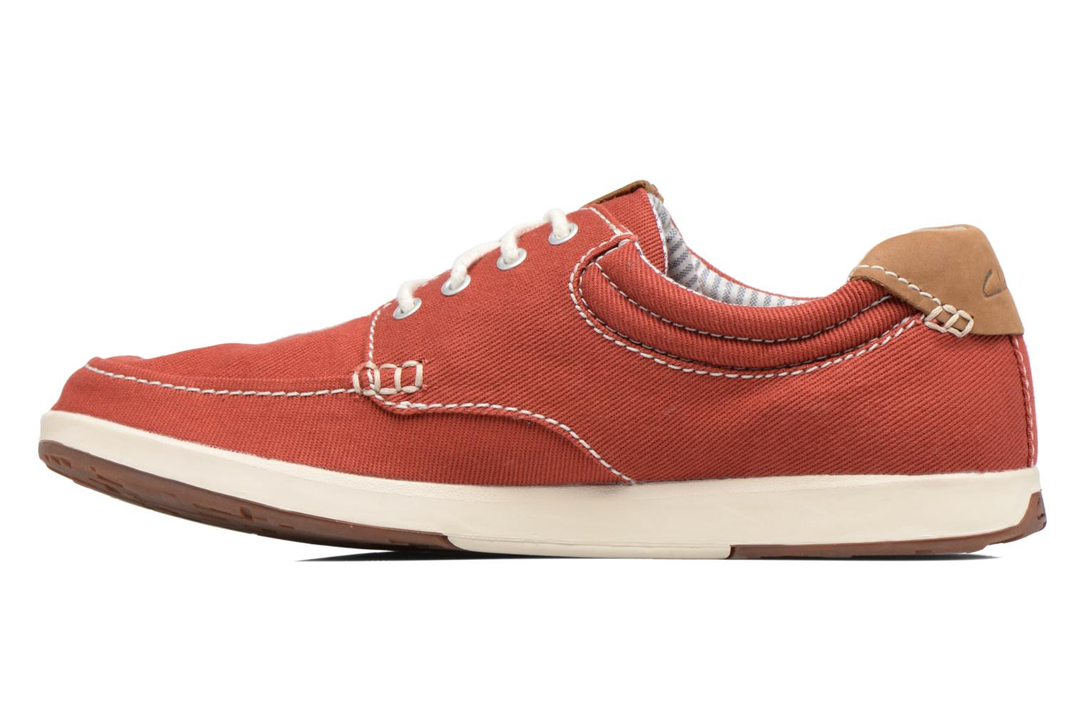 Trainers Clarks Norwin Vibe Red front view