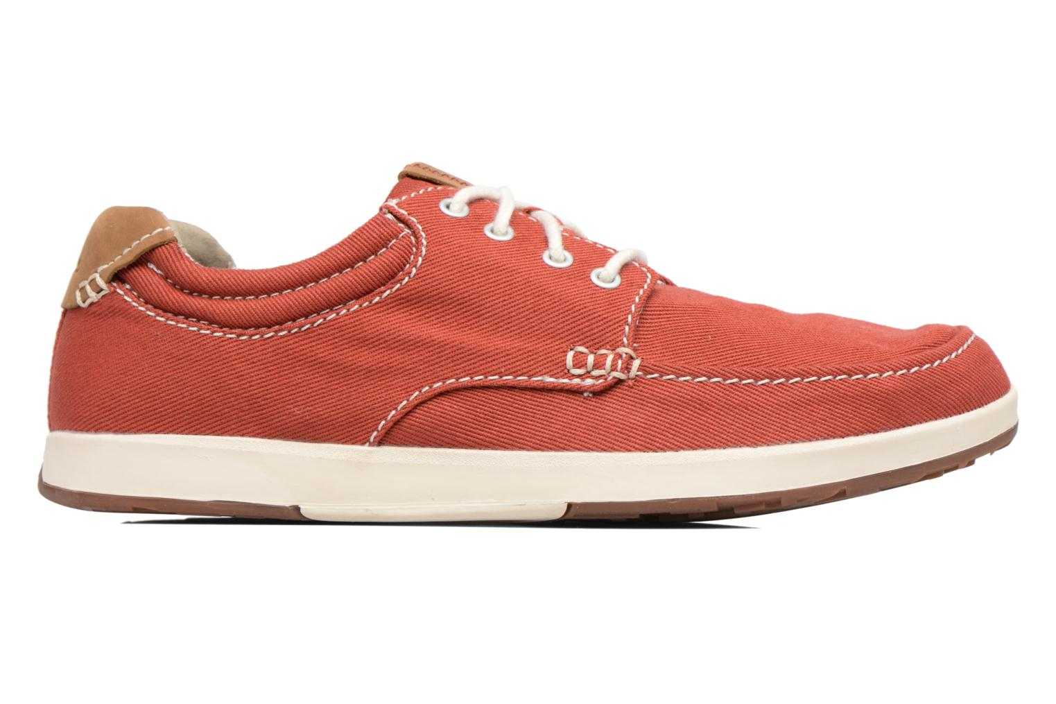 Sneakers Clarks Norwin Vibe Rood achterkant