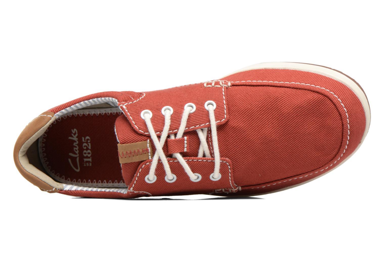 Sneaker Clarks Norwin Vibe rot ansicht von links