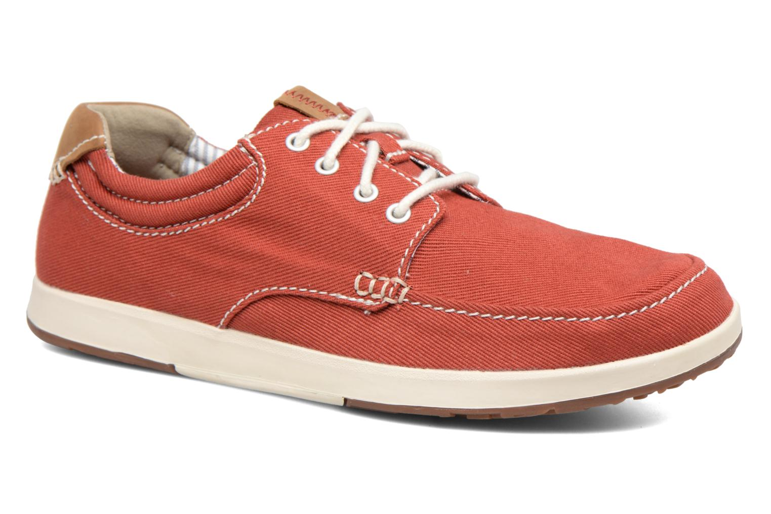 Sneakers Clarks Norwin Vibe Rood detail