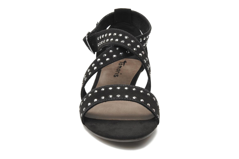 Sandales et nu-pieds Tamaris Hallborsil Noir vue portées chaussures